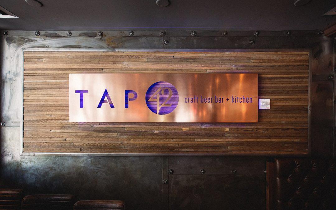 Tap 42 | Copper Sign