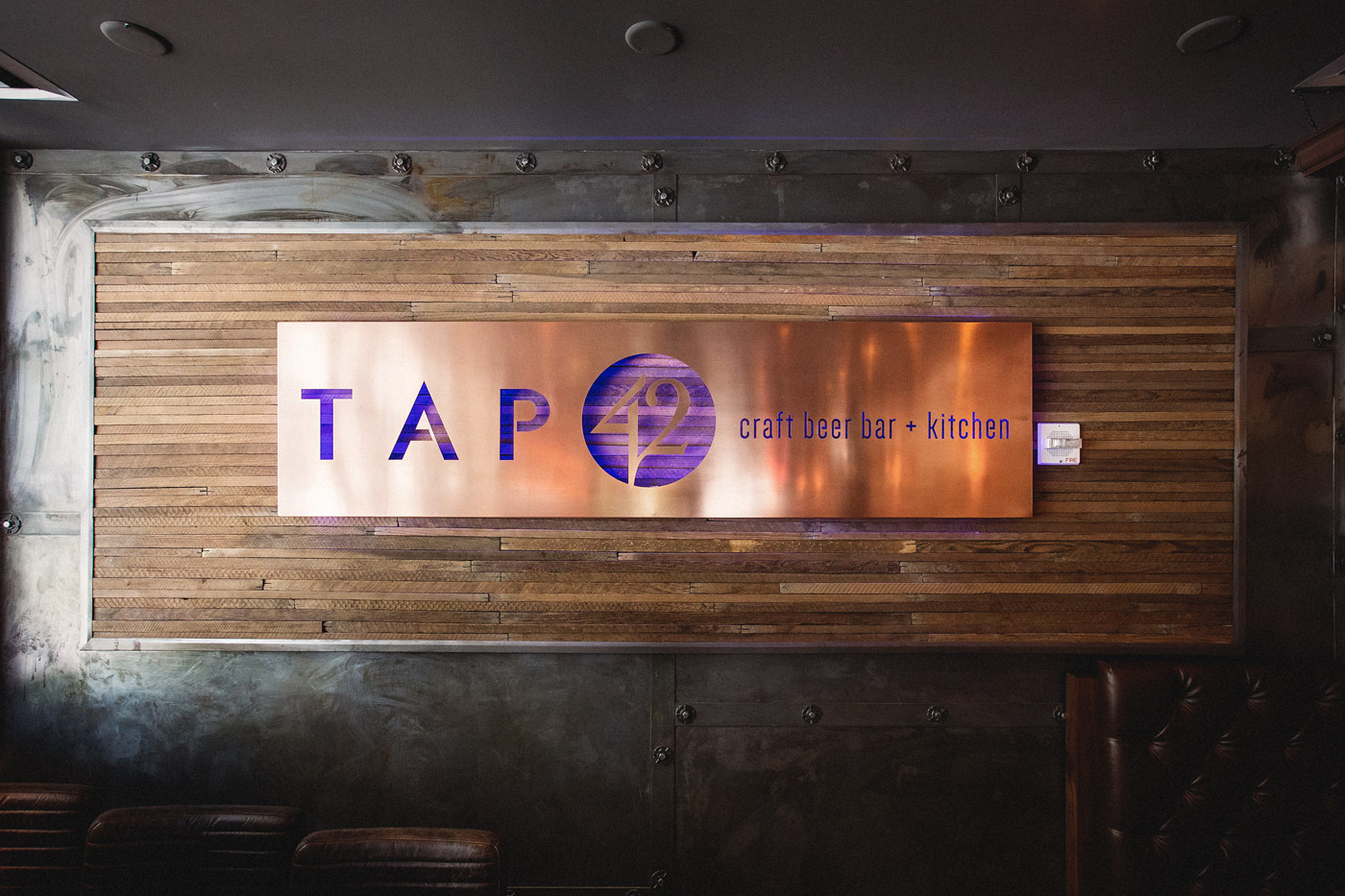 Copper Sign for Tap 42 - Crafted by DUOFAB