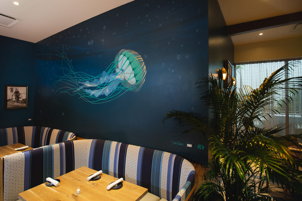 Jellyfish Mural by DUOFAB