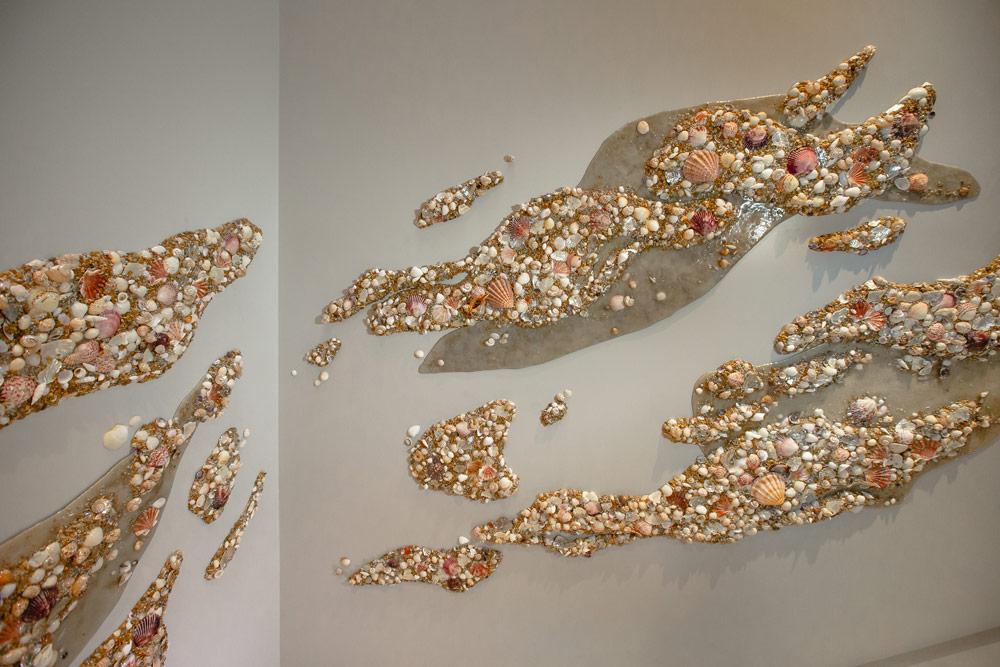 Seashell texture wall art by DUOFAB